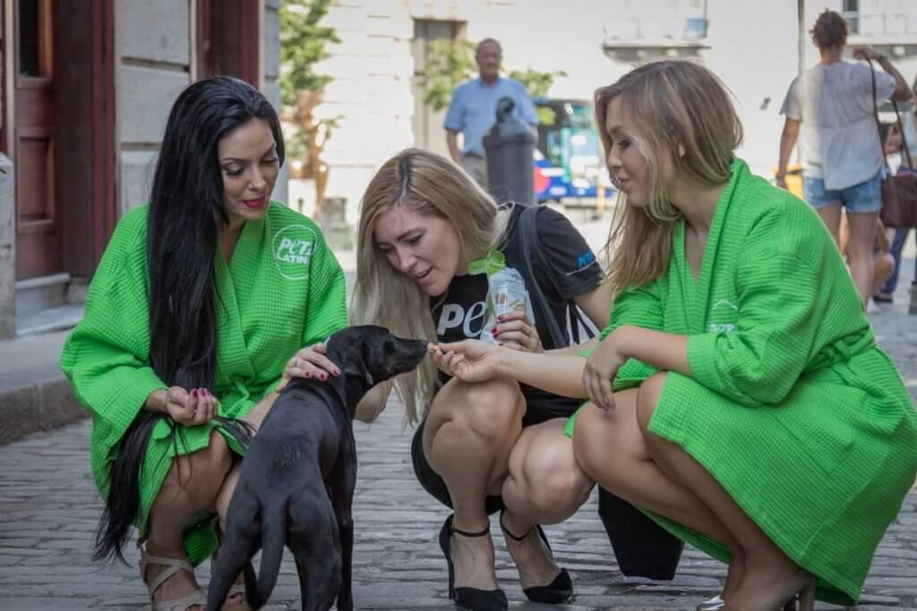 PETA Lettuce Ladies in action
