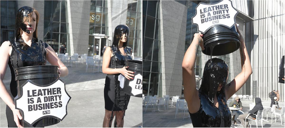 leather protest black slime peta best photos 2019