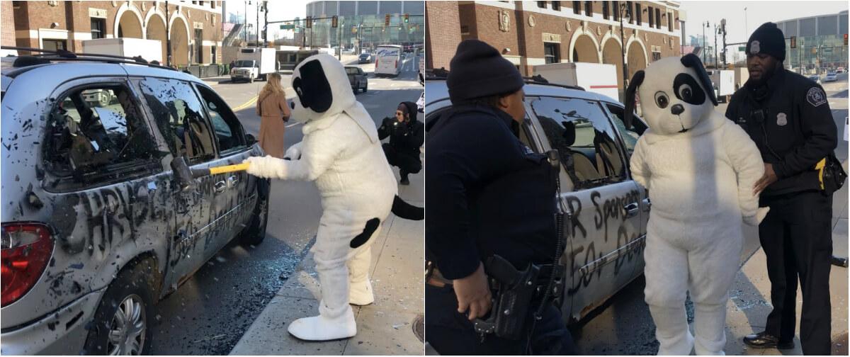 peta best protest photos 2019 chrysler car smash demo