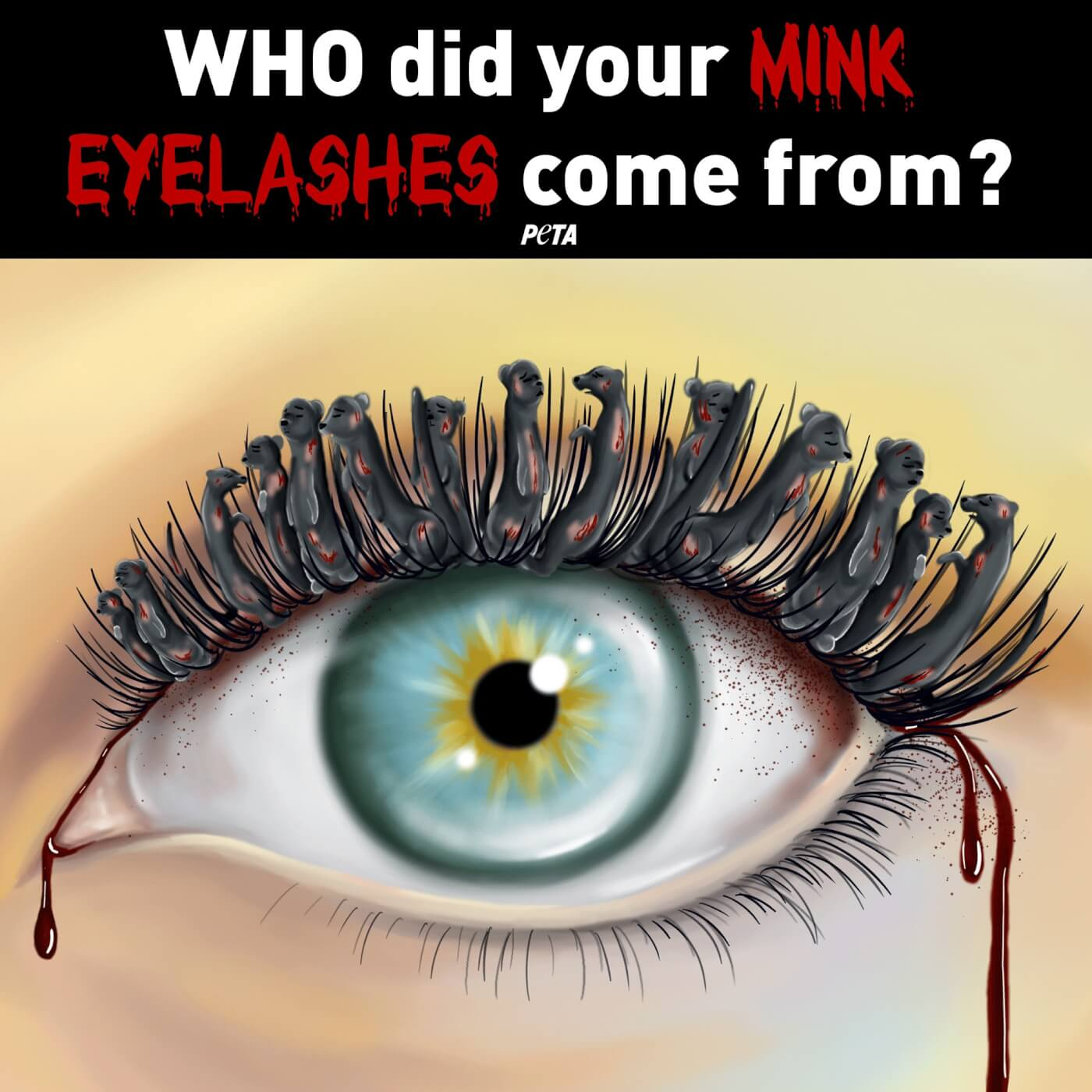 take action during covid-19 for animals killed for fur, mink eyelashes