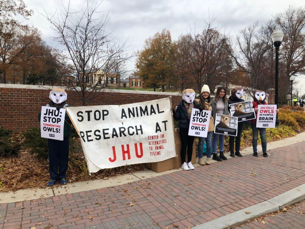 Johns Hopkins Students Protest Owl Experiments