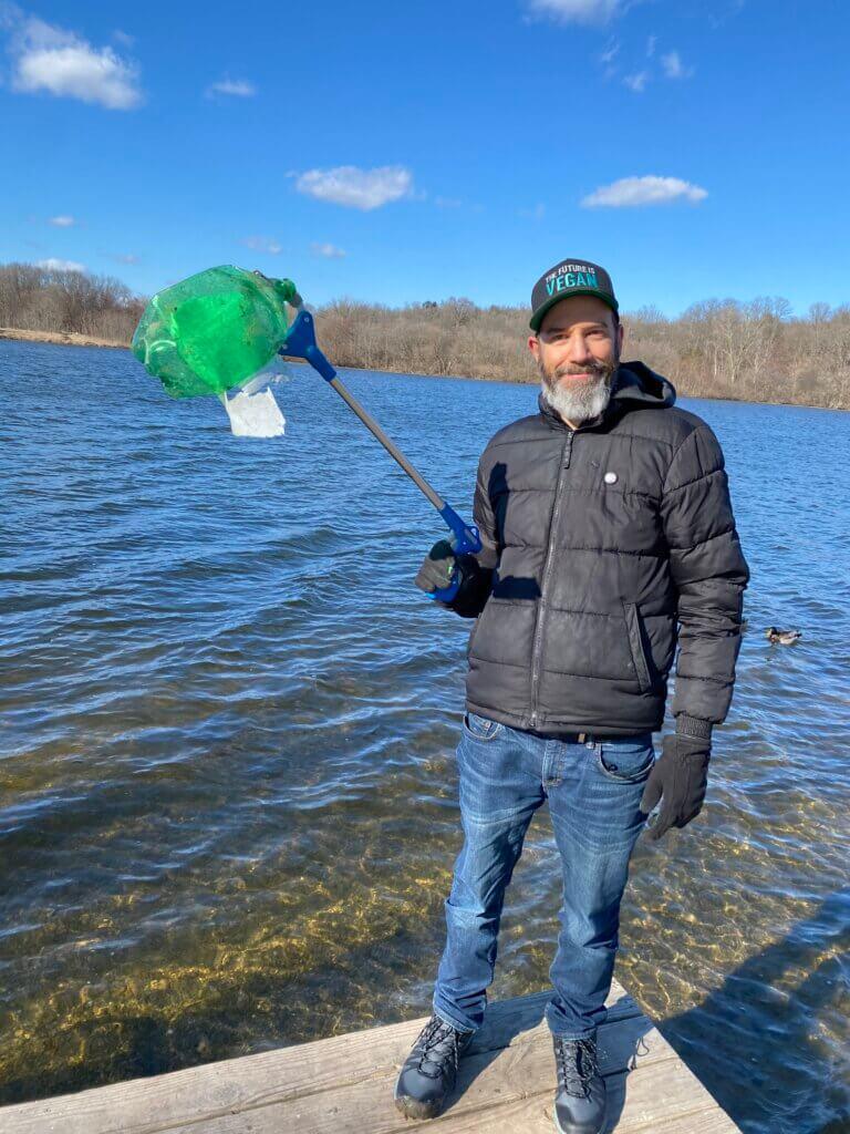 a man in michigan goes trash fishing